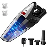 Holife HLHM208BB Handheld Cordless Ergonomic, 8000PA Suction Wet Dry Vacuum 22.2V Lithium Rechargeable Battery Hand Vac for Home Pet Hair Car Cleaning (Black)