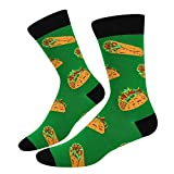 Men's Novelty Funny Crazy Food Funky Mexico Burritos Dress Socks