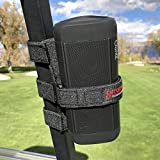 Bushwhacker Portable Speaker Mount for Golf Cart Railing - Adjustable...