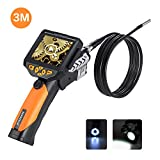 Digital Industrial Endoscope, DEPSTECH 10 FT Waterproof LCD Borescope Videoscope with CMOS Sensor Inspection Camera, 3.5inch Color LCD Screen,4 Zoom Options -10FT