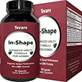 Female Enhancer Pills – Natural Curve Enhancing Supplement for Women – Potent Enlargement of Curves – Pure Horny Goat Weed + Maca Root + Ginseng + Tongkat Ali – Boost Drive and Desire – By Tevare