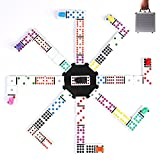 KAILE Mexican Train Dominoes Game, 91 Tiles Double 12 Color Dominoes Set for Kids Dominoes Game with Aluminum Case&Instructions