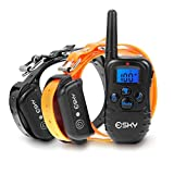 Esky 330 Yards Remote Dog Training Collar Rechargeable E-collar with Beep / Vibration / Shock Electronic Electric Collar with Visible Silicone Buttons