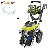 Ryobi 3,200 Psi 2.5 Gpm Electric Start Gas Pressure Washer RY803111 and Toucan City Safety Glasses