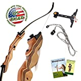 KESHES Takedown Hunting Recurve Bow Archery - 62' Hunting Bow 15-35lb Draw Back Weight - Right Left Handed - Included Rest, Stringer Tool, Sight Full Assembly Instructions Archery (35, Right)