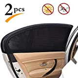 Uarter Universal Car Rear Side Window Baby Kid Pet Breathable Sun Shade Mesh Backseat (2 Pcs) Fits Most Small and Medium Cars