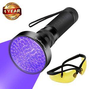 UV Black Light Flashlight, Super Bright LED #1 Best Pet Dog Cat Urine Detector light Flashlight for Pet Urine Stains, UV Blacklight Flashlight with UV Sunglasses for Bed Bugs Scorpions 7