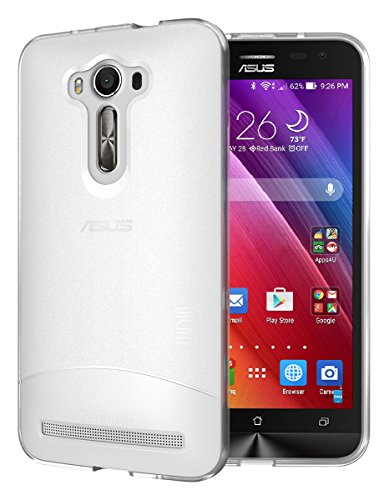 TUDIA Full-Matte ARCH TPU Bumper Protective Case for Asus ZenFone 2 Laser 5.5 Inch (ZE550KL) [Not For ZE601KL 6.0 Inch] (Frosted Clear)