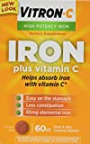 Vitron-c High Potency Iron Supplement Tablets 60 Ct (Pack of 2)