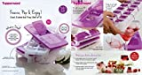 Tupperware Pure & Fresh Unique Covered Cool Cubes Ice Tray in Purple