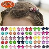 Elesa Miracle 60pcs Baby Girl Mini Hair Claw Clips Flower Hair Bangs Pin Baby Girl Hair Accessories Clips