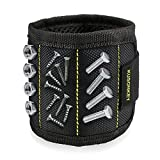 Magnetic Wristband, Kusonkey 15 Magnets Holding Screws Nails Drill Bits Gifts Gadgets Tools Gift Best Father's Day Gift for Men Him Father Dad DIY Handyman Electrician Husband Boyfriend Women