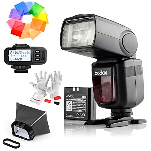 Godox Ving V860IIS 2.4G GN60 TTL HSS 1/8000s Li-on Battery Camera Flash Speedlite with X1T-S Wireless Flash Trigger for Sony – 1.5S Recycle Time 650 Full Power Pops Supports TTL/M/Multi/S1/S2
