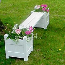 BestNest Dura-Trel Small Planter Boxes and Seat Package