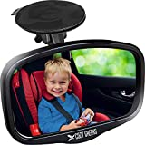 COZY GREENS Baby Car Mirror for Windshield - Compact Rear View Mirror - Rearview Infant Forward Facing in Back Seat - 100% Lifetime Satisfaction Guarantee - Shatterproof - Backseat Carseat (M)