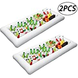 MGparty Cold Drinks Holder Inflatable Serving/Salad Bar Tray Food Drink Holder with Drain Plug for Pool Parties, BBQ,Tailgates and More (Pack of 2)
