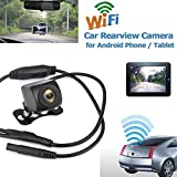 Futureshine WiFi Reversing Camera WiFi Car Backup Camera Realtime Video Transmitter Waterproof Night Vision for iOS and Android app
