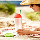 Starbucks Chiseled Ombre Cold Cup - Coral, 24 fl oz