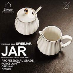 SWEEJAR Royal Ceramic Sugar and Creamer Set