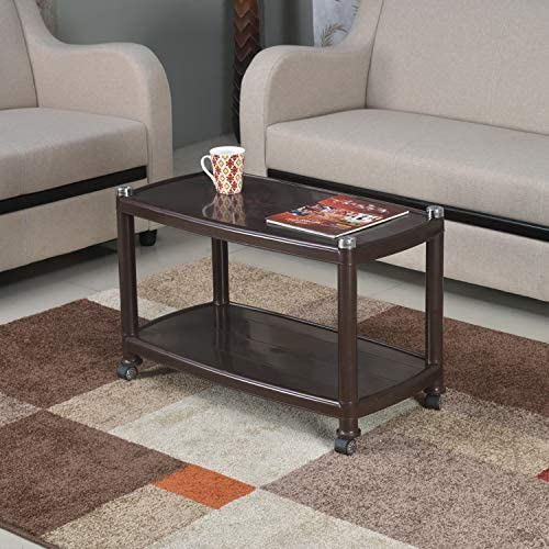 Nilkamal CENTBL5 Plastic Contemporary Center Table (Weather Brown)