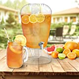 2 Gallon Drink Dispenser-BPA-Free, Shatter Proof, with Detachable Stand, Lid, Cooling Cylinder for Ice, and Infusion Bowl for Fruit by Classic Cuisine