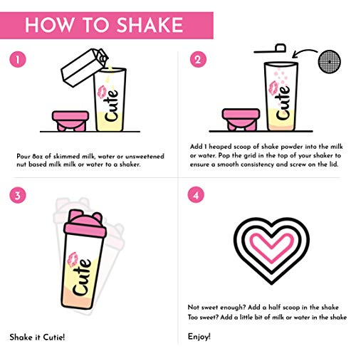 Cute Nutrition Cinnamon Bun Meal Replacement Shakes for Weight Loss Control & Energy for Women High Protein Low Calorie Low Sugar 17.63oz tub 3
