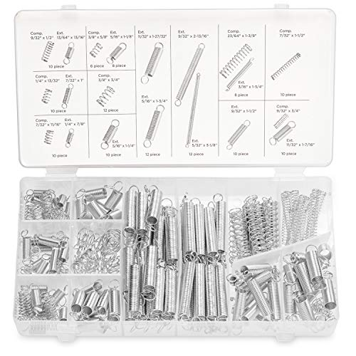 NEIKO-50456A-Spring-Assortment-Set-Zinc-Plated-Compression-and-Extension-Springs-200-Piece