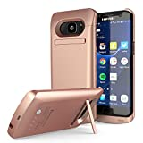 Galaxy S7 Edge Battery Case, PunkJuice 5000mAH Charger Case W/ Screen Protector|Integrated Kickstand & USB Port |IntelSwitch| Slim,Secure and Reliable Power Bank for Samsung Galaxy S7 Edge[Rose Gold]