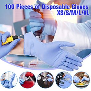 gracosy-Disposable-Gloves-Nitrile-Gloves-Food-Grade-Gloves-Latex-Free-Powder-Free-Textured-Chemical-Domestic-Industry-Cleaning-Gloves-Box-of-100-Blue-Blue-XL
