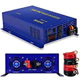 XYZ INVT 3000W Pure Sine Wave Power Inverter 12V DC to 120V AC with 2 AC Outlets 2 Set of Battery Cables, Power Converter Generator for Home Grid Off, Solar System, RV.(3000W12V)