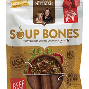 Rachael Ray Nutrish Soup Bones Dog Treats, Real Beef & Barley Flavor, 12.6 Oz. Pouch, 6 Bones 11