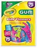 Sunstar 897RZ GUM Crayola Kids' Flosser Grape Flavor, 75 Count