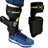 topmeet Ankle Gun Holster for Concealed Carry,Airsoft Pistol with Magazine Ammo Pocket for 1911 Glock Ruger Bodyguard Lcp 2,Sig Sauer s&w m&p Shield Taurus Springfield