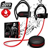 [Newest 2019] Villain Wireless Workout Bluetooth Headphones for Running and Gym - Best Sport Earbuds for Men & Women - Waterproof IPX7 Sports Earphones - Noise Cancelling Headsets for iPhone & Android