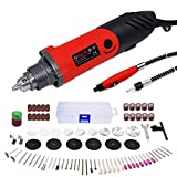 GOXAWEE Rotary Tool Kit 240W Power Die Grinder Set with 1/4 Inch 3-Jaw Chuck (0.5-6 mm), 6 Step Variable Speed, Advanced Flex Shaft & 82Pcs Multifunctional Accessories for DIY Projects