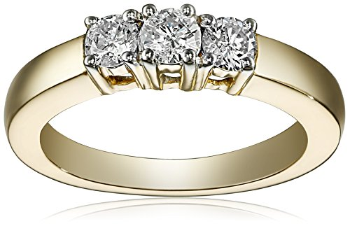 51jJorg9A%2BL Three Matching Stones Perfectly Blend The Grandeur And Brilliance Of Diamonds To Create A Wonderfully Unique Ring Simple & Classic, Your Best Choice This Band Ring Is Best Suited For Engagement, Wedding Or A Perfect Gift To Your Soul Mate