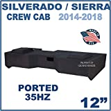 Fits Chevy Silverado & Gmc Sierra Crew-Cab 2014-2018 12' Dual Ported Subwoofer Enclosure