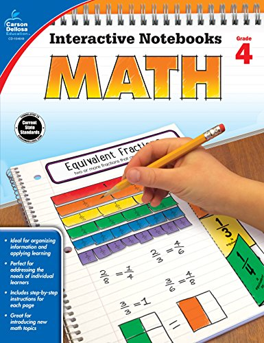 Carson Dellosa Math Interactive Notebook, Grade 4 (Interactive Notebooks)