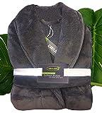 Cariloha Ultra Plush Bamboo Bathrobe Unisex Bathrobe - Moisture Wicking and Odor Resistant (S/M, Graphite)