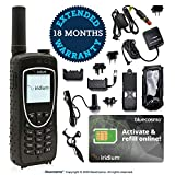 BlueCosmo Iridium Extreme Satellite Phone Bundle - Only Truly Global Satellite Phone - Voice, SMS Text Messaging, GPS Tracking, Emergency SOS - Prepaid SIM Card Included - Online Activation - 24/7