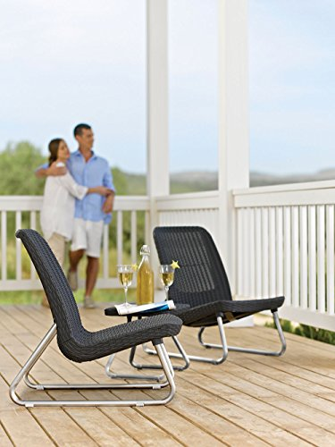 Keter-Rio-3-Pc-All-Weather-Outdoor-Patio-Garden-Conversation-Chair-Table-Set-Furniture-Grey