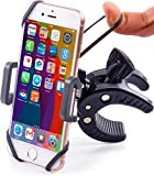 Bike & Motorcycle Phone Mount - for iPhone Xr (Xs Max, X, 7, 8 Plus), Samsung Galaxy S10 or Any Cell Phone - Universal ATV, Mountain & Road Bicycle Handlebar Holder. +100 to Safeness & Comfort