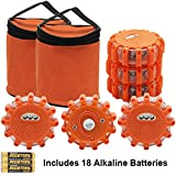 Twinkle Star 6 Pack LED Road Flares Flashing Warning Lights Roadside Safety Emergency Disc Beacon for Car, Marine Boat