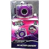 Nerf Rebelle Purple 5.1 Megapixel HD Children's Action Sports Camera kit with Waterproof Housing Helmet Bike Mount and Nerf Blaster Mount