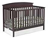 Graco Benton 4-in-1 Convertible Crib (Espresso) – Easily Converts to Toddler Bed, Daybed or Full-Size Bed with Headboard, 3-Position Adjustable Mattress Support Base