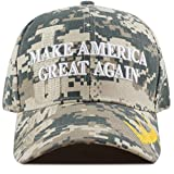 The Hat Depot Exclusive 45th President Trump Make America Great Again 3D Cap (Digital Camo-Flag)