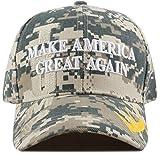 The Hat Depot Exclusive 45th President Trump Make America Great Again 3D Cap (Digital Camo-Flag)