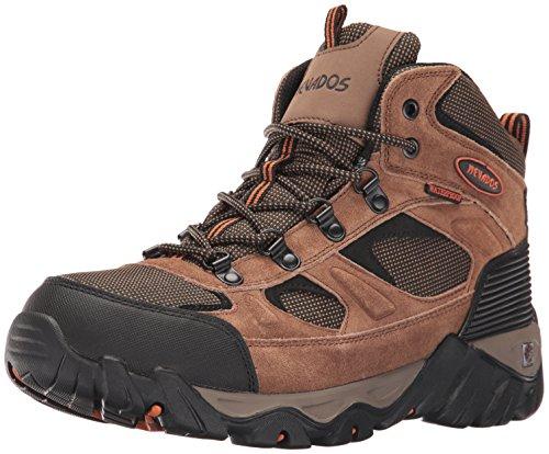 Nevados Men's MESA MID Hiking Boot, Brown/Orange/Black, 9.5 M US