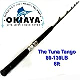 OKIAYA COMPOSIT 80-130LB Tuna Tango Saltwater Big Game Roller Rod(6 Foot Long)
