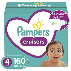 Diapers Size 4, 160 Count – Pampers Cruisers Disposable Baby Diapers, ONE MONTH SUPPLY (Packaging May Vary) 51jWlHDsLeL